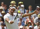 Roger Federer hat bei seiner 20. Wimbledon-Teilnahme am  in London zum 16. Mal das Viertelfinale des Rasenklassikers.