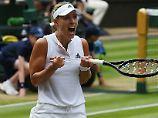 7. Matchball in Wimbledon sitzt: Kerber macht Halbfinale spektakulär perfekt