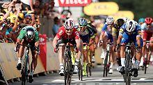 Zweiter Etappensieg für Gaviria: Greipel verliert Tour-Sprint hauchdünn