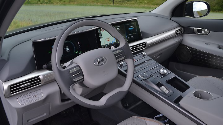 Das Cockpit des Hyundai Nexo ist eine Mischung aus Neuzeit und antiker Innenarchitektur.