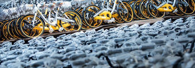 Fahrradverleiher taucht ab: Obike lässt Tausende Räder stehen