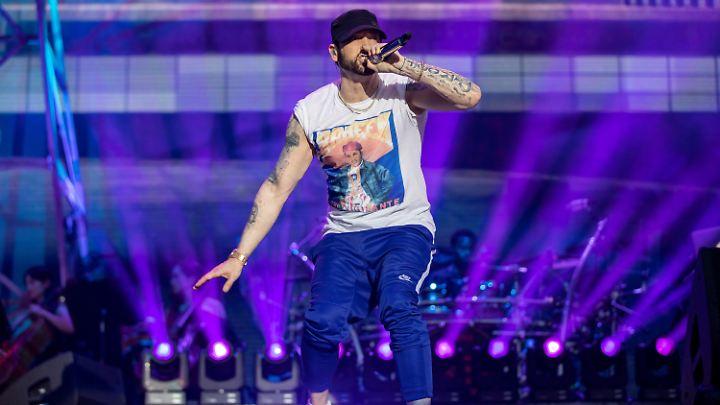 Kam nach Hannover - und 75.000 schauten zu: Eminem.