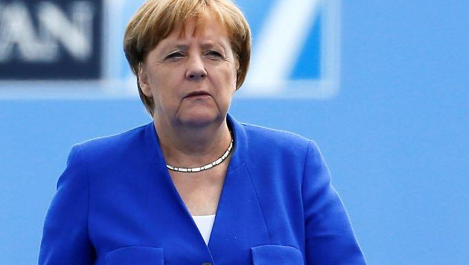 Bundeskanzlerin Angela Merkel gibt sich angesichts der Attacke von US-Präsident Donald Trump unbeeindruckt.
