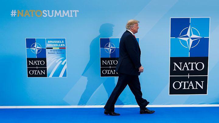 US-Präsident Trump bestimmt die Agenda des Nato-Gipfels.