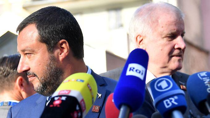 Die Innenminister Salvini (l.) und Seehofer in Innsbruck.