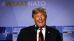 Bizarre Kehrtwende des US-Präsidenten: Trump brüstet sich mit Nato-Gipfelerfolg