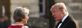 Harter Brexit - sonst ...: Trump greift May an - Lob für Johnson
