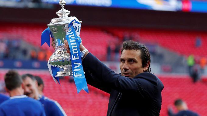 Antonio Conte verlässt den FC Chelsea mit dem FA-Cup-Sieg.