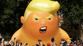 Erst Eklat, dann Schadensbegrenzung: Trump-Besuch irritiert Briten