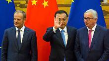 Gemeinsam gegen den Handelskrieg: Trump lässt EU und China zusammenrücken