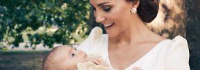 Royal-Fans weltweit berauschen sich jedenfalls an den fast madonnenhaften Bildern von Kate und Louis.
