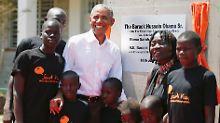 Gefallen für die Halbschwester: Obama unterstützt Bildungsprojekt in Kenia