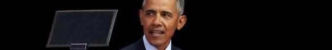 """Der Tag: 17:28 Obama in Südafrika: """"Ich trage eine lange Unterhose"""""""