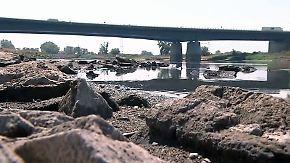 Binnenschifffahrt und Weltkriegsmunition: Hitze legt Flüsse gefährlich trocken
