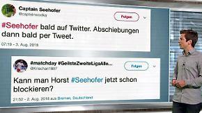 n-tv Netzreporter: #Seehofers Twitter-Plan erntet Spott und Gelächter