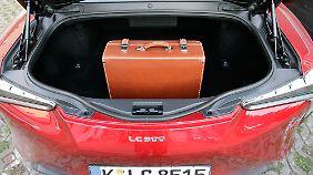 Nur 192 Liter Kofferraum bei 4,77 Metern Länge bietet der Lexus LC 500.