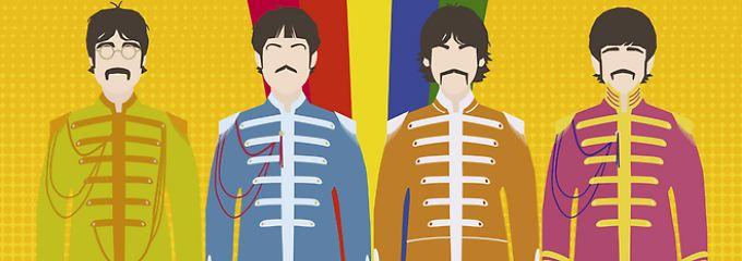 Ihre Story in bunten Bildern: Alles, wirklich alles über die Beatles
