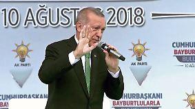 """Erdogan will """"Dollar, Euro oder Gold"""": Private Sparer sollen türkische Finanzkrise verhindern"""