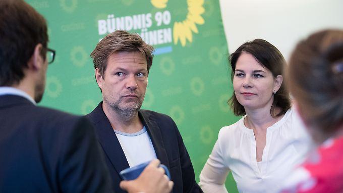Die Grünen-Chefs Robert Habeck und Annalena Baerbock.