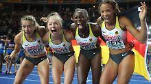 Vierfacher Jubel in Berlin: Deutsche Frauen sprinten zu Bronze