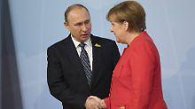 Breite Themenpalette: Putin trifft Merkel in Meseberg