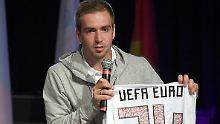 Philipp Lahm wirkt bislang als Botschafter - steigt beim DFB auf.