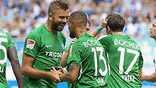 Feiern, das wollen die Bochumer auch im Pokal - die Chancen stehen gut.