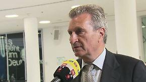 """Günther Oettinger zur Türkei-Krise: """"Schlüssel für mehr Vertrauen liegt in Ankara"""""""