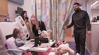 Promi-News des Tages: Drake überrascht 11-jährige Herzpatientin