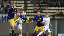 Kein Tor gegen zehn Ukrainer: Leipzig müht sich in Europa-League-Quali ab