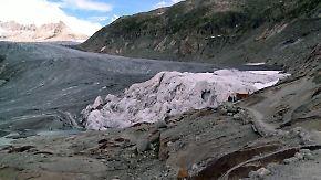 Klimaschutz in Eigeninitiative: Schweizer decken Gletscher mit riesigen Tüchern ab