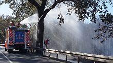 Waldbrand in Brandenburg: Löscharbeiten dauern noch etwa eine Woche