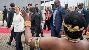 Afrika-Reise der Kanzlerin: Merkel wirbt für mehr deutsche Investitionen