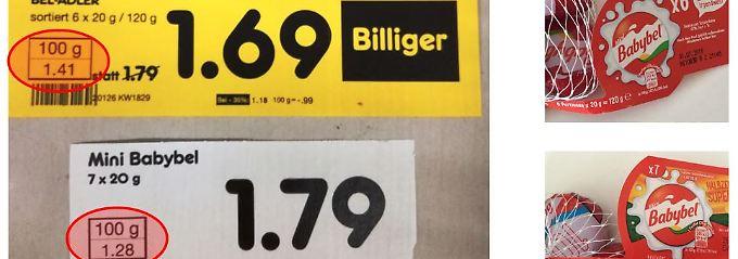Die vzhh wirft Netto Taschenspielertricks vor (Bildquelle: Verbraucherzentrale Hamburg).