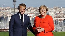 Arbeitstreffen in Marseille: Macron bestärkt Merkel in Migrationspolitik