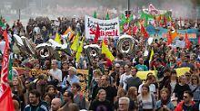 Demo in Hannover: Tausende protestieren gegen Polizeigesetz