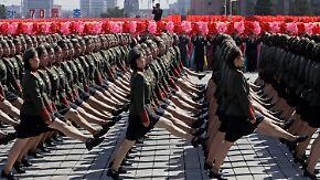 Kim Jong Un überrascht bei Staatsjubiläum: Militärparade rollt durch Pjöngjang