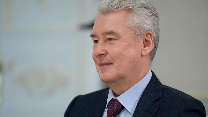 """Will """"noch härter als bisher"""" arbeiten: Moskaus Bürgermeister Sobjanin."""