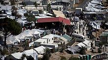 Flüchtlingslager auf der Insel Lesbos.