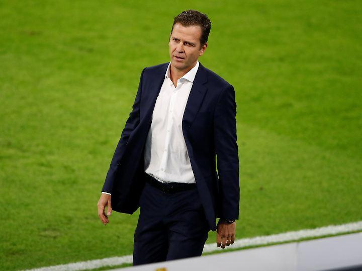 """""""Irgendwann knallt es"""": Oliver Bierhoff, Manager der deutschen Nationalmannschaft."""