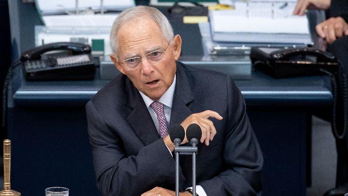 """Für Schäuble muss Europa die Flüchtlingsthematik """"gemeinsam handhaben""""."""
