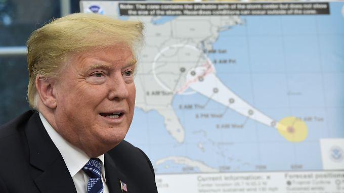Bevor Florence auf die US-Küste traf, sagte US-Präsident Donald Trump: Wir sind absolut total vorbereitet.