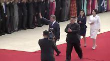 Gipfeltreffen der beiden Koreas: Moon trifft in Pjöngjang ein