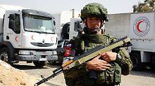 Russischer Soldat in der Nähe von Damaskus.