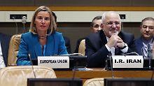 EU-Außenbeauftragte Federica Mogherini will das Atomabkommen mit mit einer Tauschbörse retten.