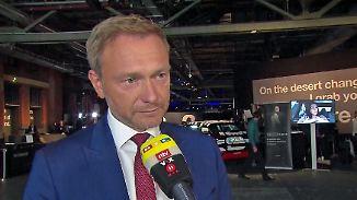 """Lindner beim Tag der deutschen Industrie: """"Von Frau Merkel noch nie so eine Dreistigkeit gehört"""""""