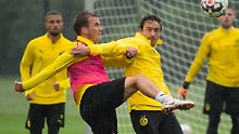 Spielt fast nur im Training: Mario Götze.