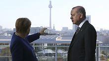 Erdogan im Kanzleramt: Frühstück mit Merkel soll Beziehung stärken