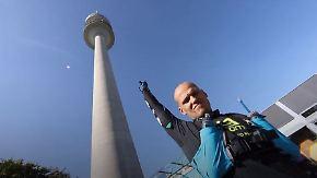 Höllenqualen für den guten Zweck: Ultra-Läufer erklimmt Olympiaturm 50 Mal an einem Tag
