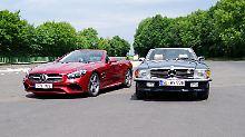 Zwei Legenden auf Augenhöhe: der SL 500 und der 500 SL.